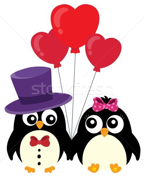 Valentine penguins theme image 1 Stock photo © clairev