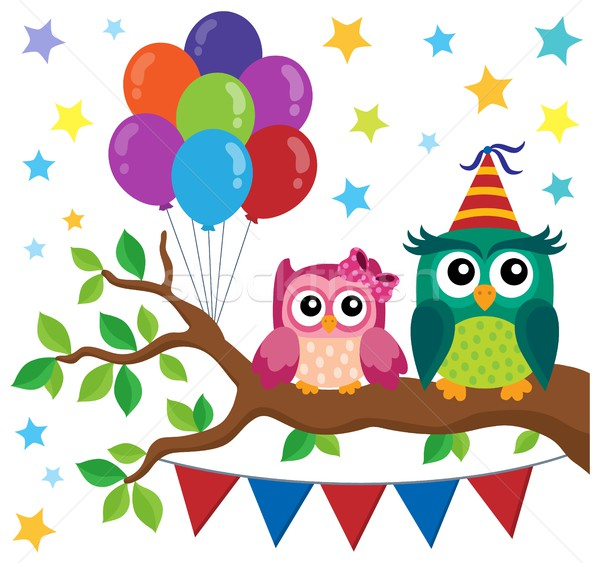 Party owls theme image 6 Stock photo © clairev