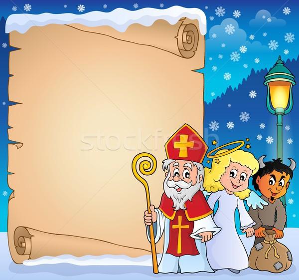 Saint Nicholas Day thematic parchment 3 Stock photo © clairev