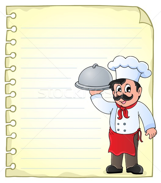 Notepad page with chef theme 1 Stock photo © clairev