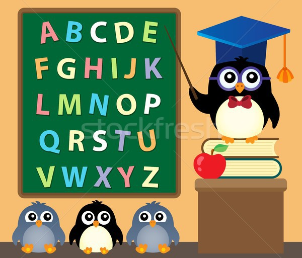 School penguins theme image 3 Stock photo © clairev