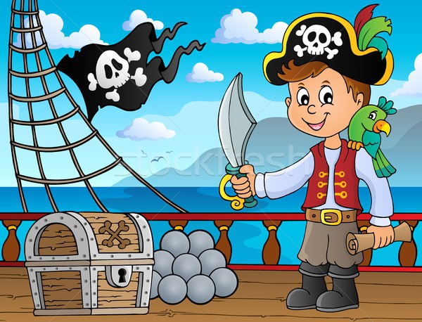 海賊 少年 トピック 画像 水 子 ストックフォト © clairev