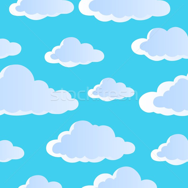 Seamless background with clouds 4 Stock photo © clairev