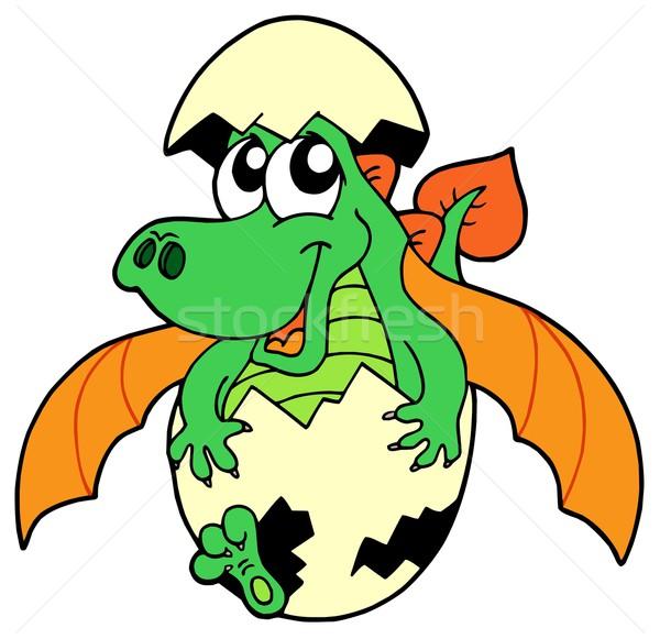 Cute dragon in egg Stock photo © clairev