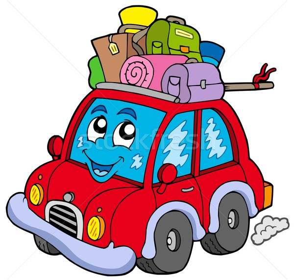 Cute car with baggage Stock photo © clairev