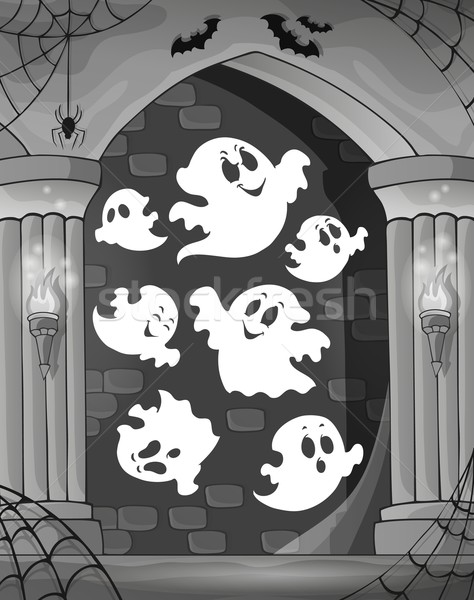 Black and white alcove and ghosts 1 Stock photo © clairev