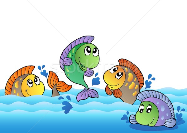 Cute freshwater fishes in river Stock photo © clairev