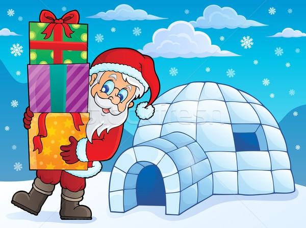 Igloo with Santa Claus theme 1 Stock photo © clairev