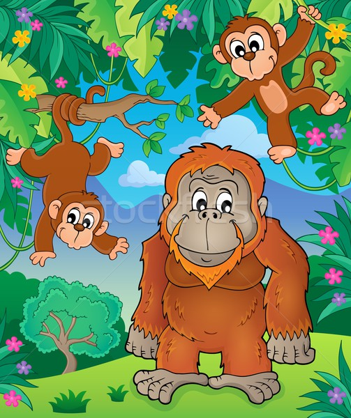 Orangutan theme image 3 Stock photo © clairev