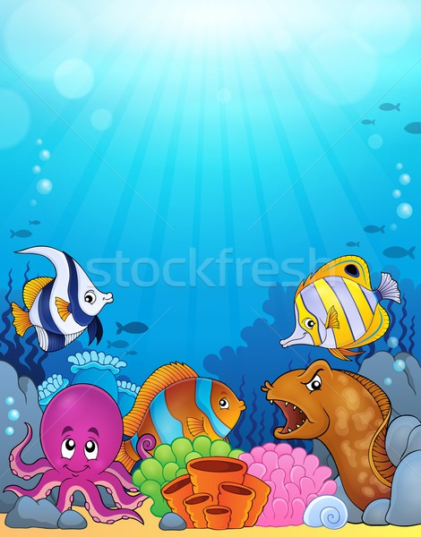 Ocean underwater theme background 5 Stock photo © clairev