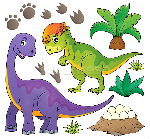 Dinosaur topic set 5 Stock photo © clairev