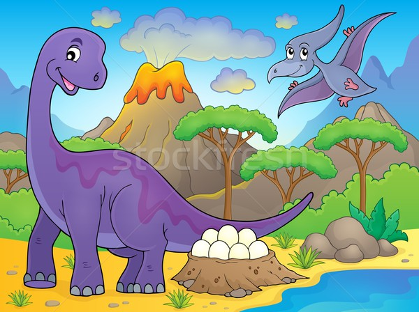 Image with dinosaur thematics 2 Stock photo © clairev