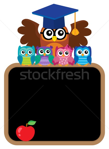 Owl teacher and owlets theme image 8 Stock photo © clairev