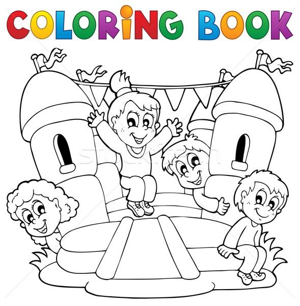 Carte De Colorat Copii Joacă Fată Copii Carte