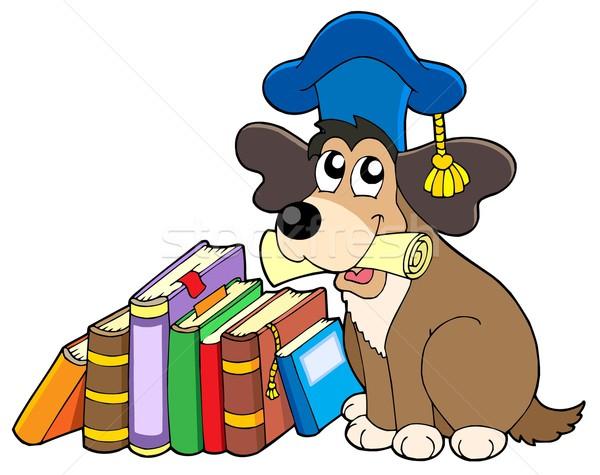 Stock fotó: Kutya · tanár · könyvek · papír · oktatás · főiskola