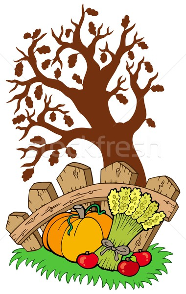 Thanksgiving motive with tree Stock photo © clairev