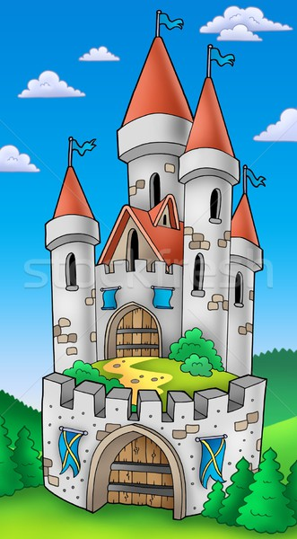 Tall castle with fortification Stock photo © clairev