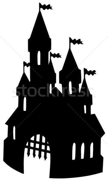 Old castle silhouette Stock photo © clairev