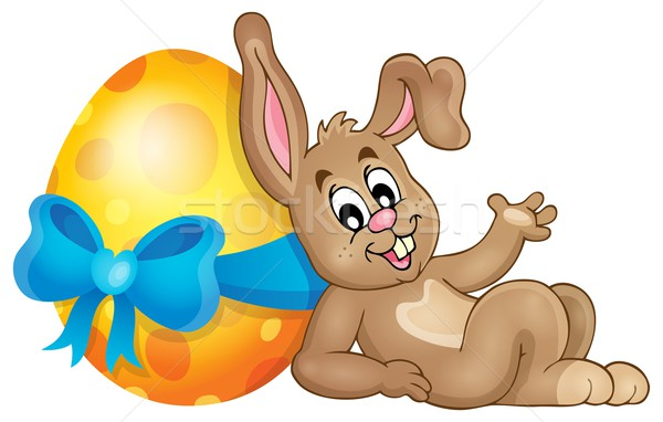 Bunny with Easter egg theme image 1 Stock photo © clairev