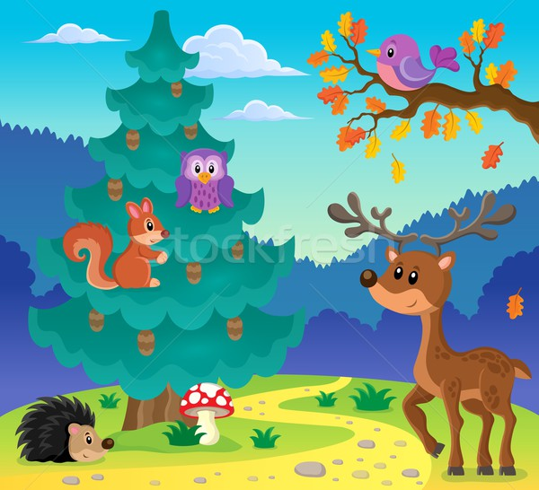 Coniferous tree theme image 3 Stock photo © clairev