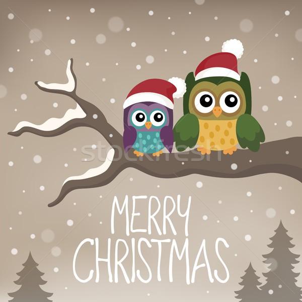 веселый Рождества тема изображение зима птиц Сток-фото © clairev