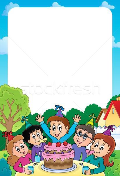 Crianças festa tópico quadro crianças criança Foto stock © clairev