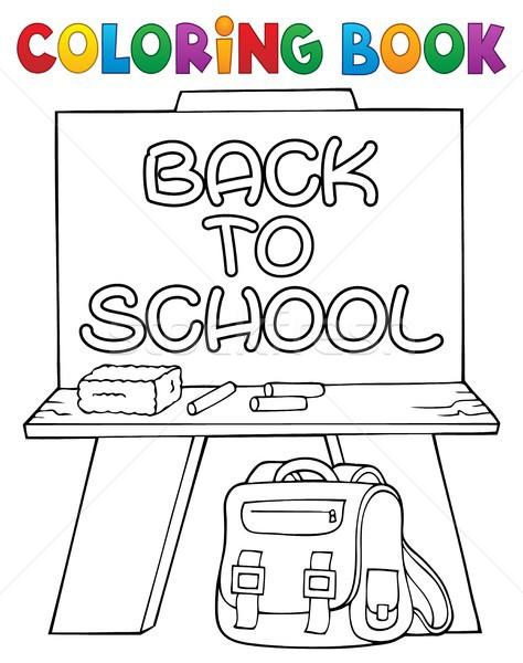 Livro para colorir tópico livro escolas arte educação Foto stock © clairev