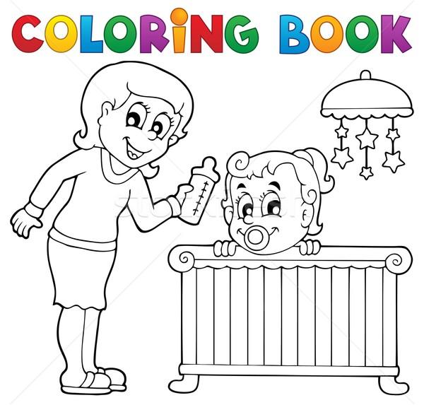 Livro Para Colorir Bebe Imagem Menina Sorrir Livro