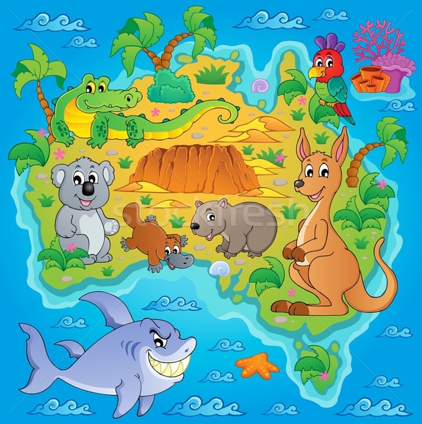 Australian map theme image 1 Stock photo © clairev