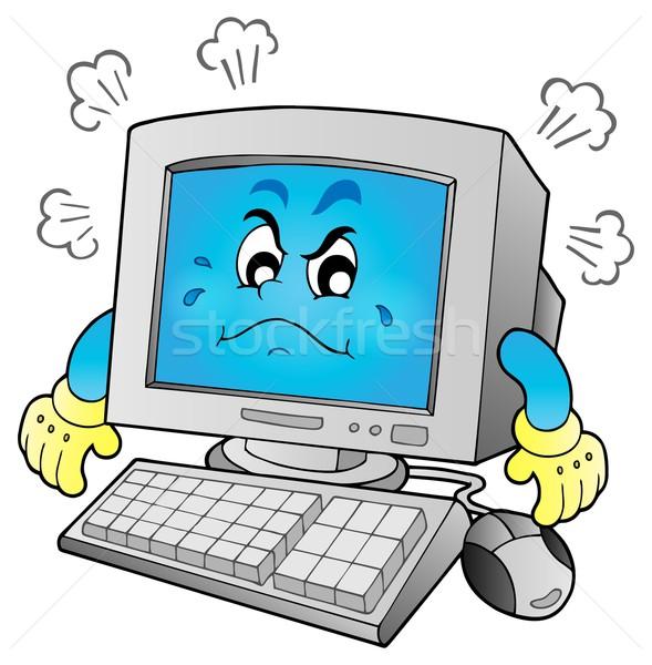 Stok fotoğraf: Bilgisayar · görüntü · eller · yüz · fare · sanat