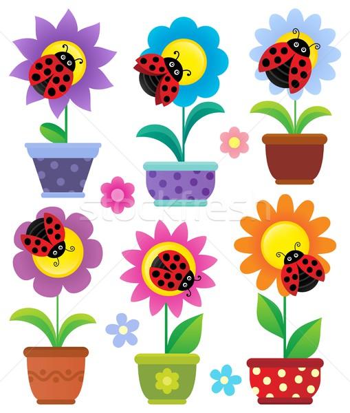 çiçekler çiçek sanat yaz bitkiler Stok fotoğraf © clairev