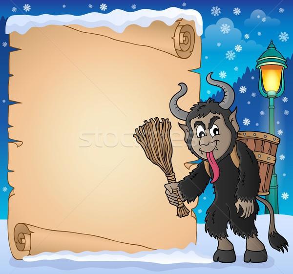 пергаменте бумаги искусства зима лампы корзины Сток-фото © clairev
