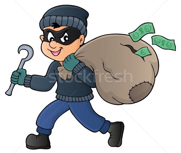 Ladro bag soldi arte persona disegno Foto d'archivio © clairev
