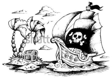 Drawings with pirate theme 1 Stock photo © clairev