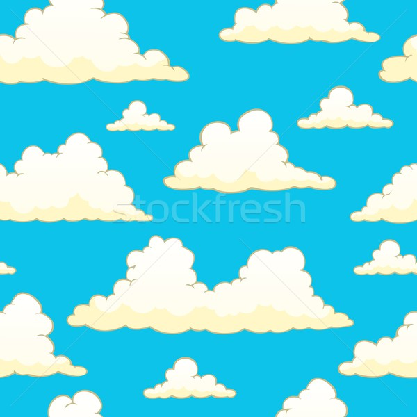 Seamless background with clouds 9 Stock photo © clairev