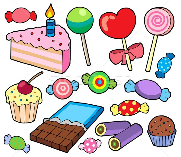Candy and cakes collection Stock photo © clairev