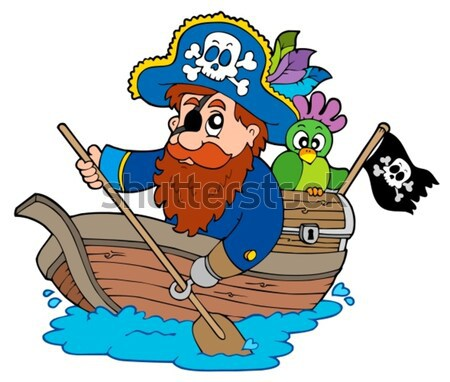 Pirate with treasure map Stock photo © clairev
