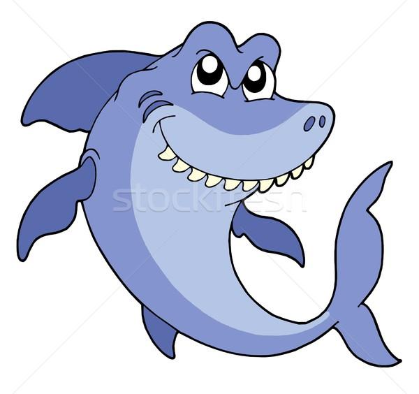 улыбаясь акула белый воды природы морем Сток-фото © clairev