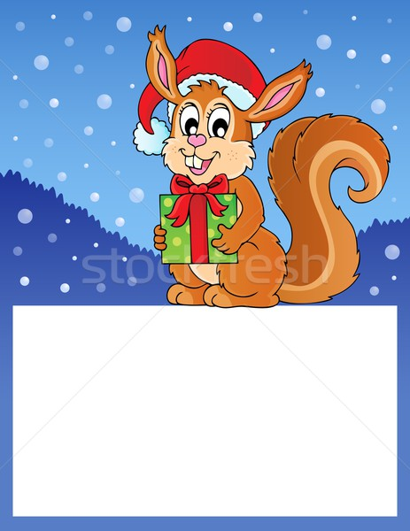 Small frame with Christmas squirrel Stock photo © clairev
