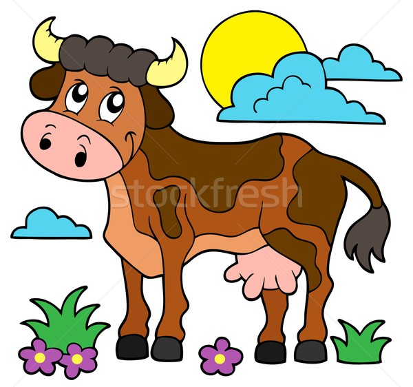Cow theme image 1 Stock photo © clairev