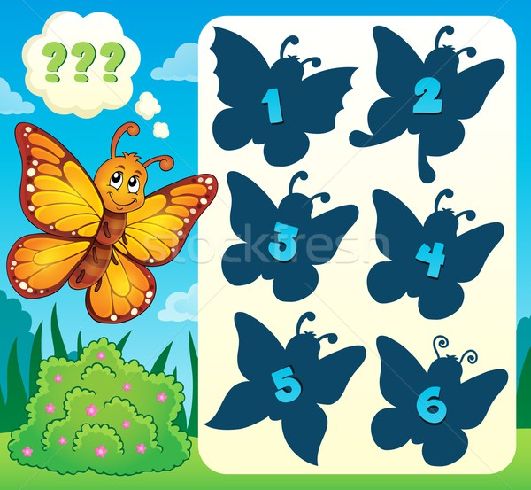 Butterfly riddle theme image 4 Stock photo © clairev