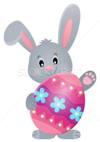 Estilizado vacaciones huevo de Pascua feliz conejo arte Foto stock © clairev