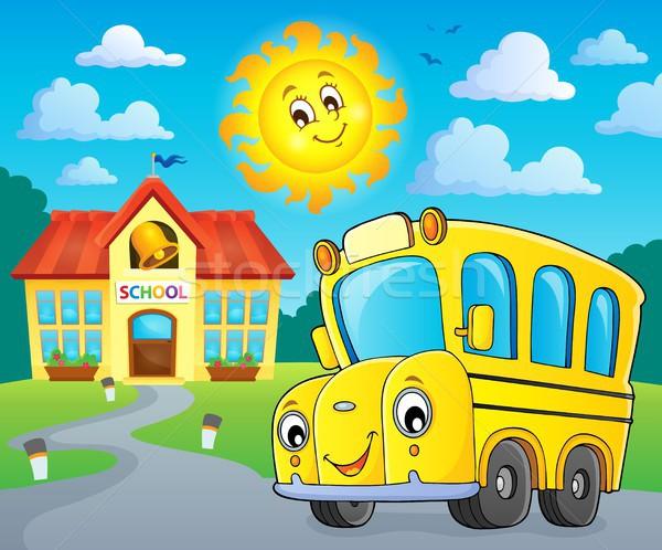 School bus thematics image 2 Stock photo © clairev