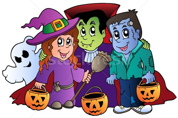 Halloween trick or treat characters Stock photo © clairev