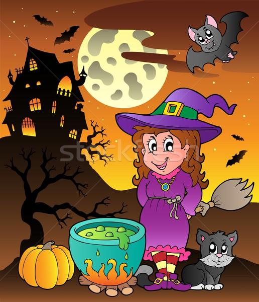 Scene with Halloween theme 3 Stock photo © clairev