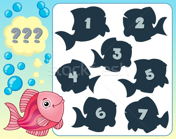Fish riddle theme image 3 Stock photo © clairev