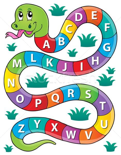 Snake with alphabet theme image 1 Stock photo © clairev