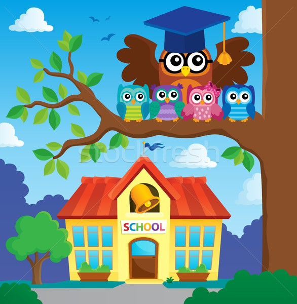Owl teacher and owlets theme image 6 Stock photo © clairev