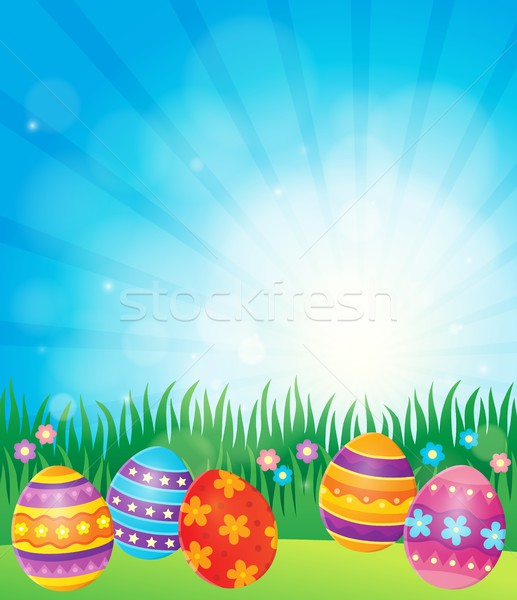 Decorated Easter eggs theme image 6 Stock photo © clairev
