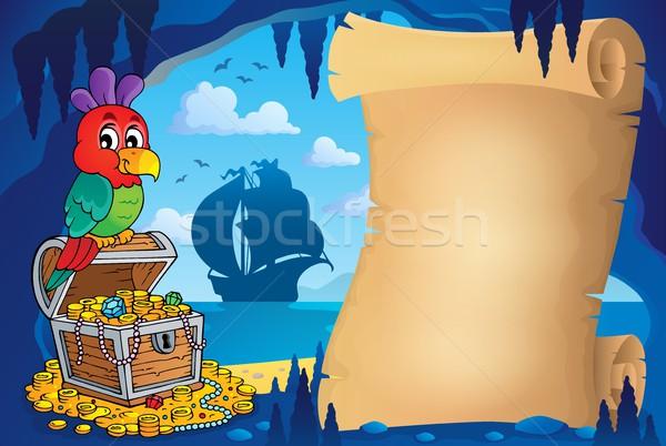 羊皮紙 海賊 洞窟 画像 海 鳥 ストックフォト © clairev